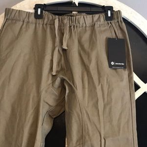 Khaki Men's tactical style pants.
